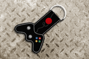 Video Game Controller in the Hoop Key Fob Games & Leisure Embroidery Design By DesignedByGeeks