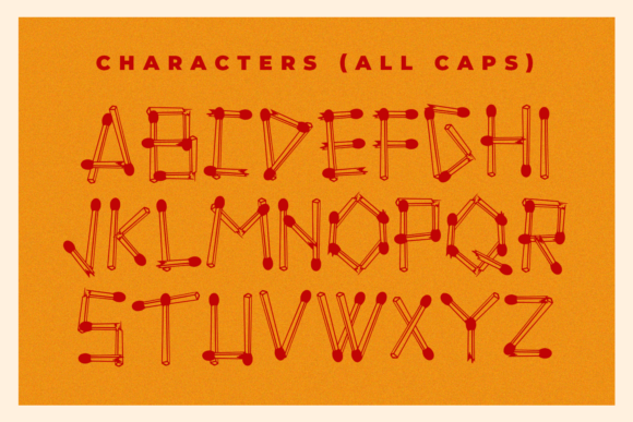 Print on Demand: Vintages Matches Display Font By Abodaniel - Image 7