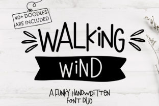 Print on Demand: Walking Wind Display Font By freelingdesignhouse