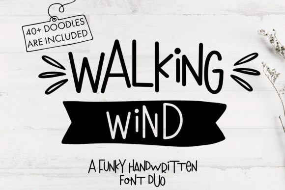 Print on Demand: Walking Wind Display Schriftarten von freelingdesignhouse