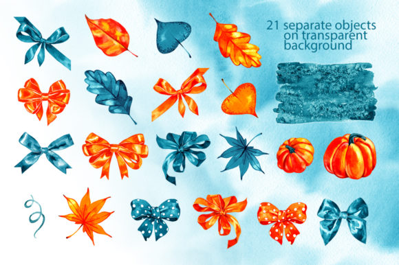 Download Free Watercolor Autumn Illustrations Graphic By Natalimyastore Creative Fabrica for Cricut Explore, Silhouette and other cutting machines.