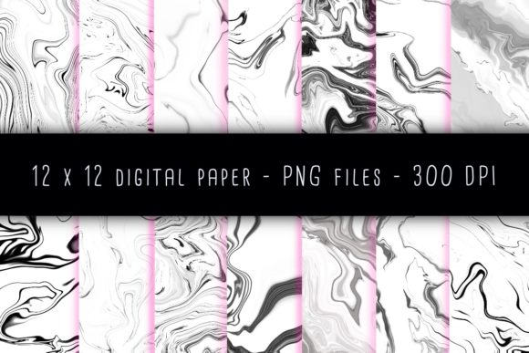Print on Demand: White Water Marble Graphic Backgrounds By RoughDraftDesign