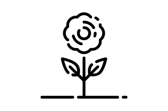 Print on Demand: Flower Graphic Icons By khld939