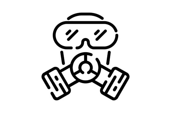 Print on Demand: Gas Mask Graphic Icons By khld939
