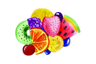 Fruit Salad - Watercolor Food & Drinks Craft Cut File By Creative Fabrica Crafts