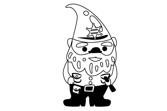 Download Free Police Gnome Svg Cut File By Creative Fabrica Crafts Creative for Cricut Explore, Silhouette and other cutting machines.