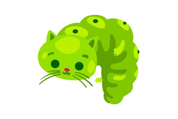 Download Free Cat Caterpillar Svg Cut File By Creative Fabrica Crafts for Cricut Explore, Silhouette and other cutting machines.
