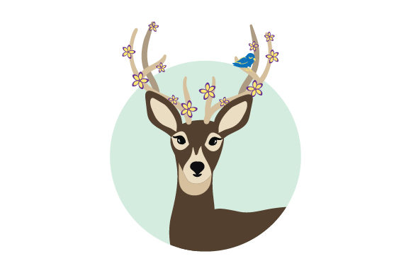 Spring Deer Spring Craft Cut File By Creative Fabrica Crafts - Image 1