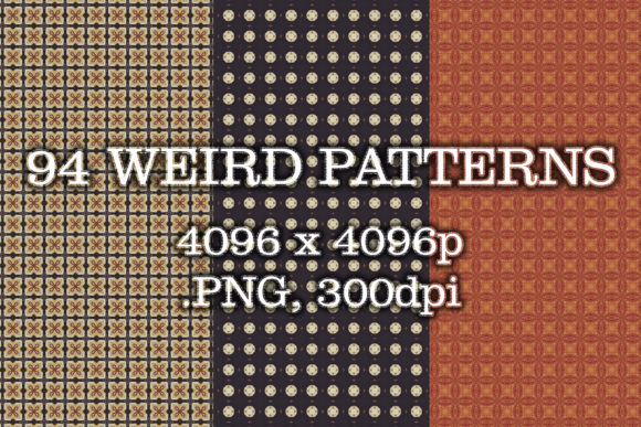 94 Weird Patterns Graphic Patterns By vessto