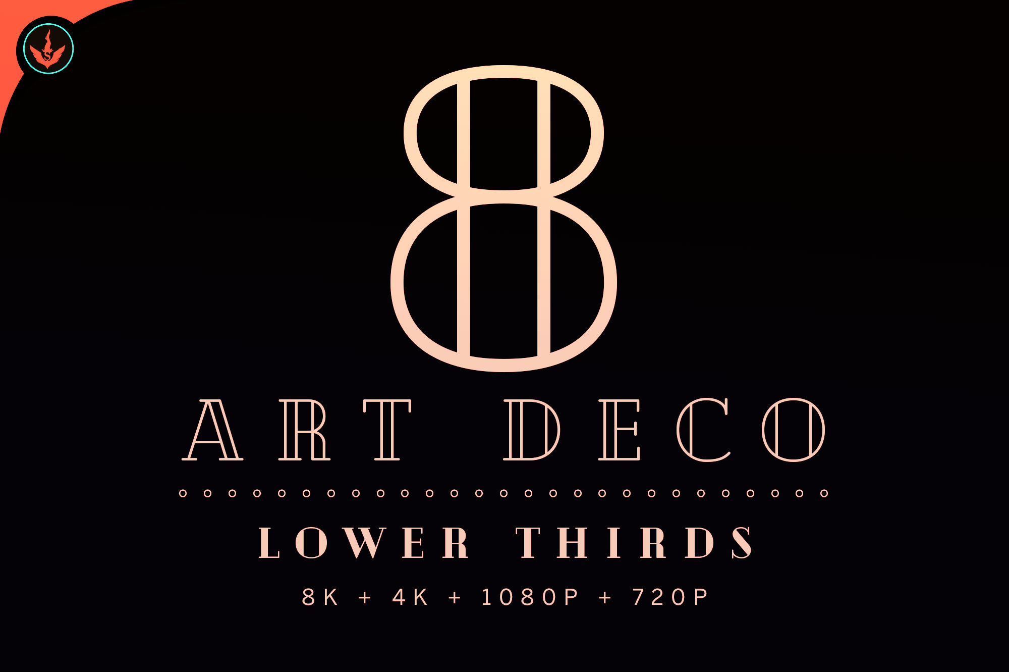 Download Free Art Deco Funeral Video Lower Thirds Graphic By Seraphimchris for Cricut Explore, Silhouette and other cutting machines.