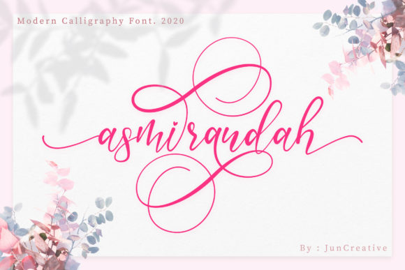 Print on Demand: Asmirandah Script & Handwritten Font By Juncreative
