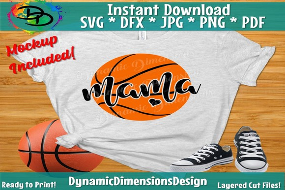 Download Free Basketball Mom Graphic By Dynamicdimensions Creative Fabrica for Cricut Explore, Silhouette and other cutting machines.