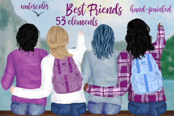 Best Friends Graphic Illustrations By LeCoqDesign
