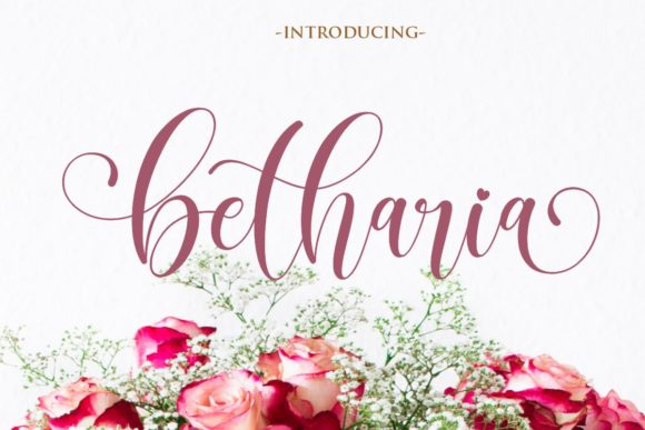 Print on Demand: Betharia Script & Handwritten Font By Gilar Studio - Image 1