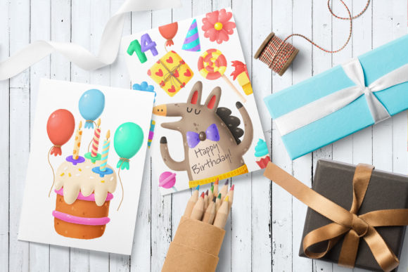 Print on Demand: Birthday Clipart Bundle Graphic Illustrations By Architekt_AT - Image 2