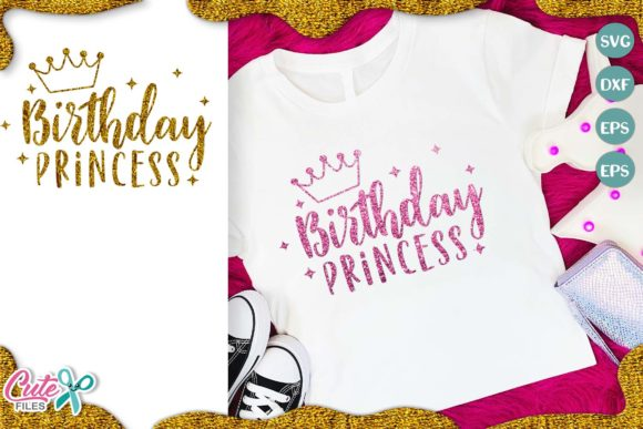 Birthday Princess Graphic Illustrations By Cute files