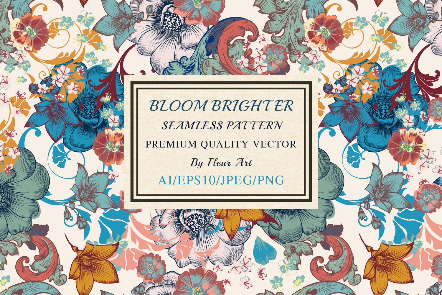 Download Free Bloom Bright Seamless Pattern Graphic By Fleurartmariia for Cricut Explore, Silhouette and other cutting machines.