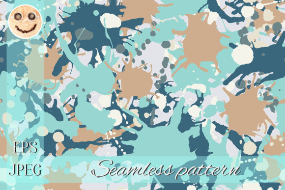 Print on Demand: Blue Camouflage Graphic Patterns By TasiPas