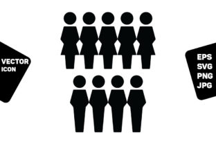 Print on Demand: Business People Icon Vector Group Graphic Icons By TukTuk Design