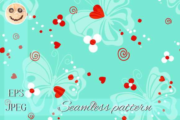 Print on Demand: Butterfly Red Heart Graphic Patterns By TasiPas