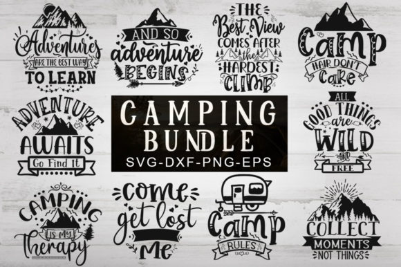 Print on Demand: Camping Bundle Graphic Print Templates By Designdealy.com - Image 1