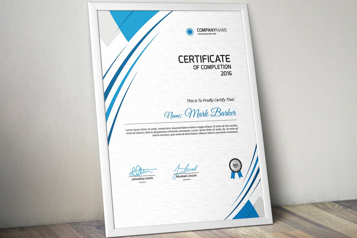 Download Free Certificate Graphic By Curvedesign Creative Fabrica for Cricut Explore, Silhouette and other cutting machines.
