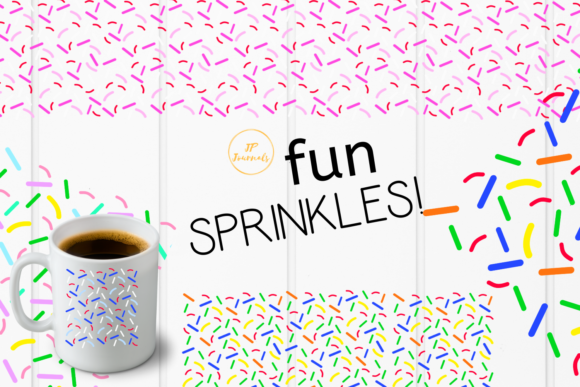 Print on Demand: Colorful Sprinkles Graphic Illustrations By jpjournalsandbooks