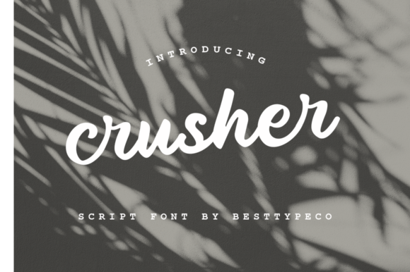 Print on Demand: Crusher Script & Handwritten Font By besttypeco