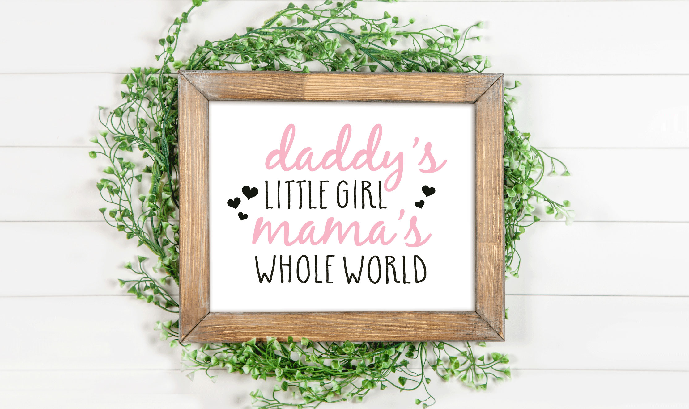 Download Free Daddy S Little Girl Mama S Whole World Graphic By Svgmamashop for Cricut Explore, Silhouette and other cutting machines.