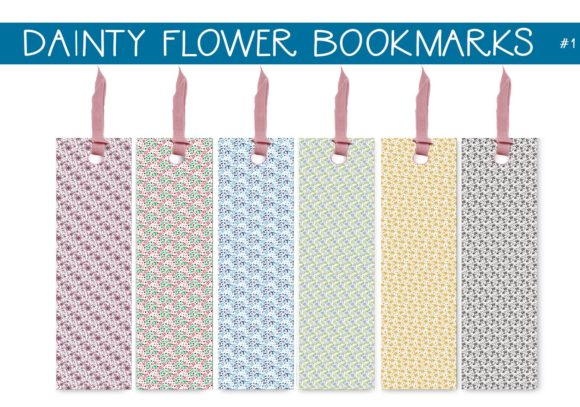 Print on Demand: Dainty Flowers Bookmarks      #1 Graphic Illustrations By capeairforce