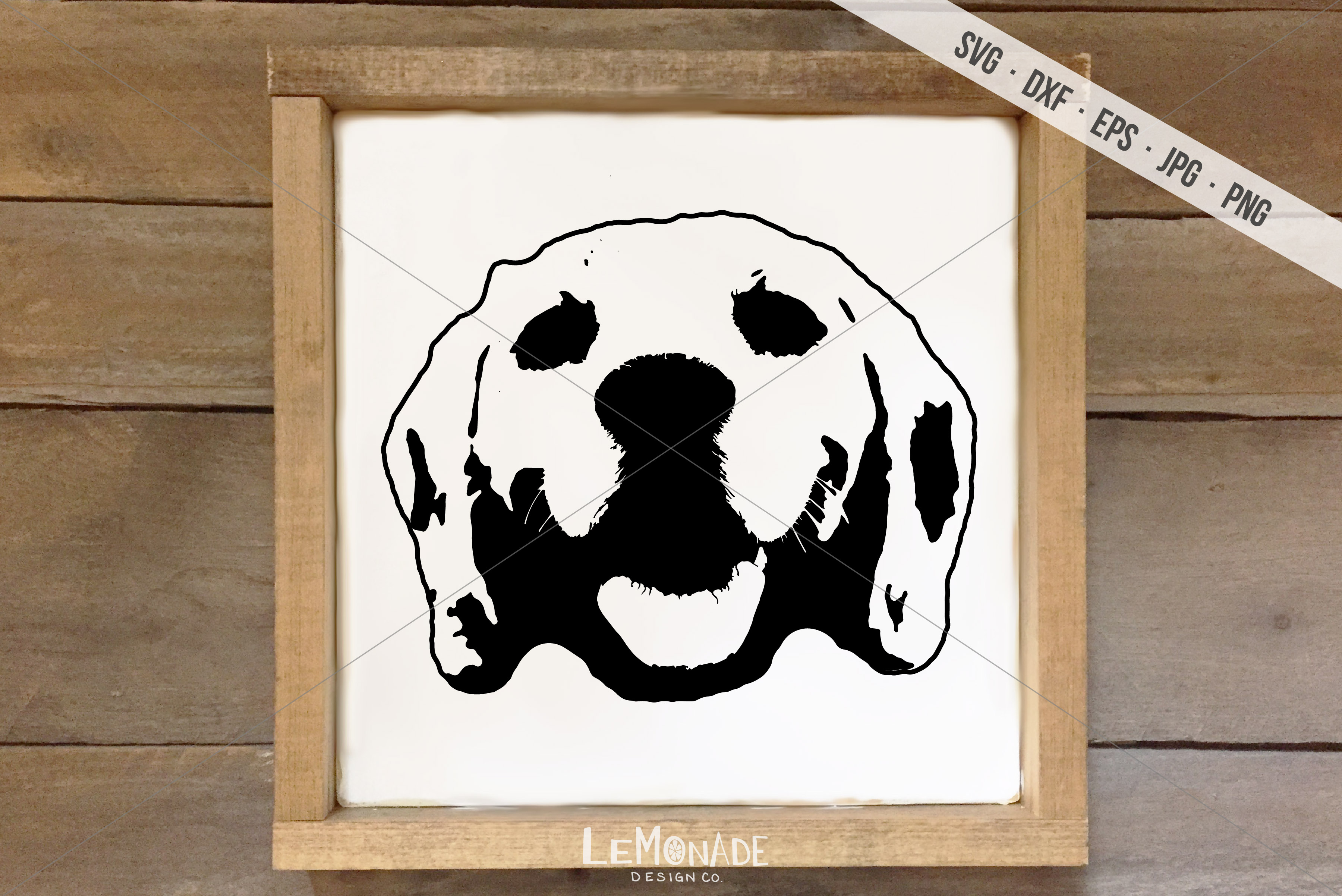 Download Free Dog Face Graphic By Lemonade Design Co Creative Fabrica for Cricut Explore, Silhouette and other cutting machines.