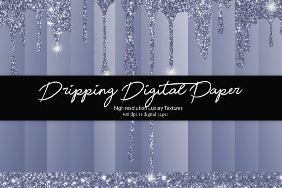 Download Free Dripping Glitter Digital Paper Graphic By Daydesign Creative for Cricut Explore, Silhouette and other cutting machines.