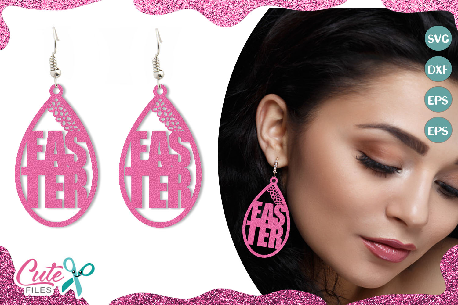 Download Free Easter Earring Template Graphic By Cute Files Creative Fabrica for Cricut Explore, Silhouette and other cutting machines.