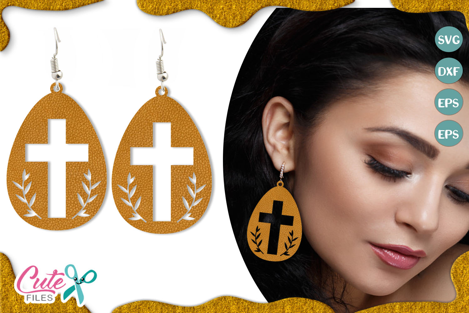 Download Free Easter Egg Earring Template Graphic By Cute Files Creative Fabrica for Cricut Explore, Silhouette and other cutting machines.