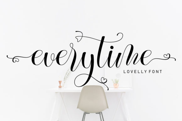 Print on Demand: Everytime Script & Handwritten Font By softcreative50