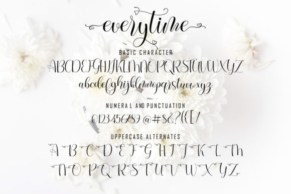 Print on Demand: Everytime Script & Handwritten Font By softcreative50 - Image 11