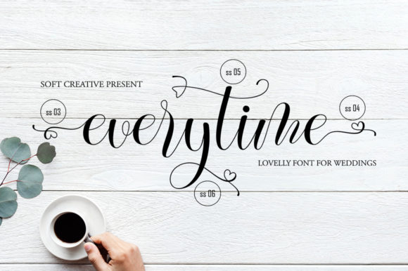 Print on Demand: Everytime Script & Handwritten Font By softcreative50 - Image 2