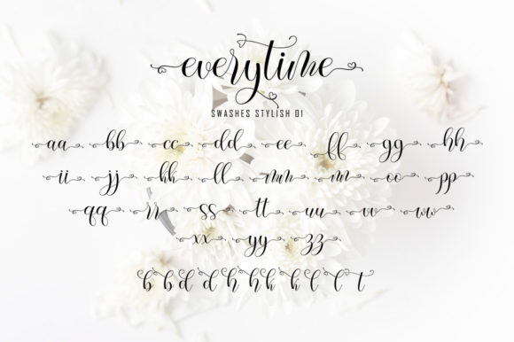 Print on Demand: Everytime Script & Handwritten Font By softcreative50 - Image 9