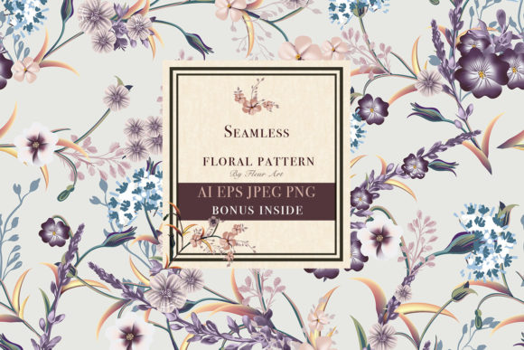 Floral Vintage Seamless Pattern Graphic Patterns By fleurartmariia - Image 1