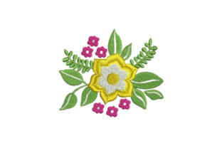 Flower Embellishment Design Single Flowers & Plants Embroidery Design By Embroidery Designs