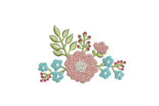 Flower Embellishment Bouquets & Bunches Embroidery Design By Embroidery Designs