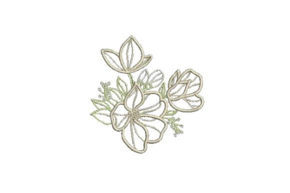 Flower Embellishment Outline Outline Flowers Embroidery Design By Embroidery Designs