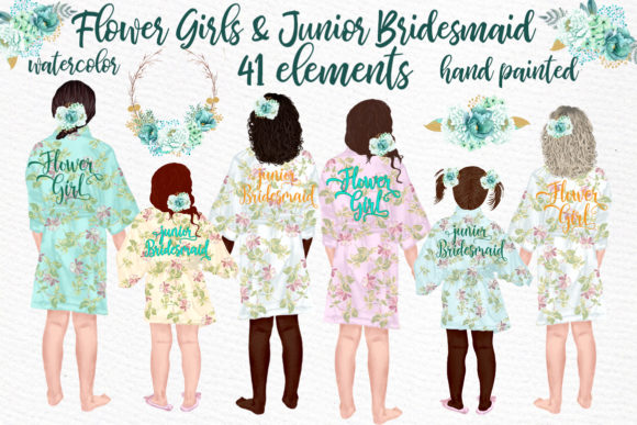 Flower Girl Graphic Illustrations By LeCoqDesign