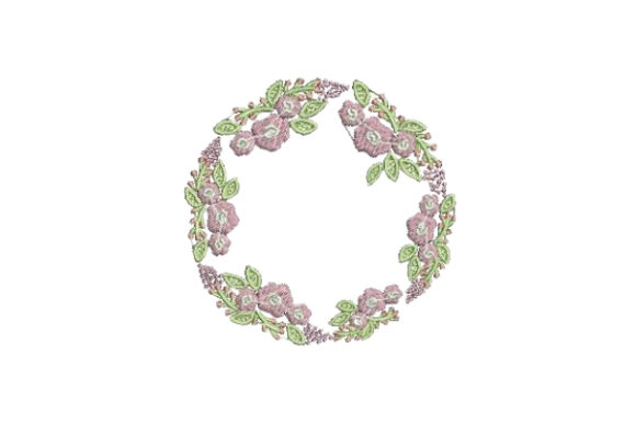 Flower Wreath Floral Wreaths Embroidery Design By Embroidery Designs - Image 1
