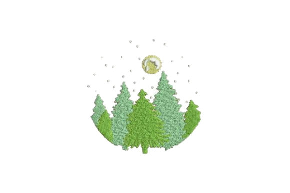 Forest Forest & Trees Embroidery Design By Embroidery Designs - Image 1