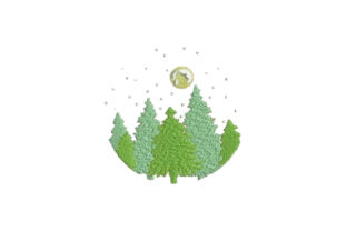Forest Forest & Trees Embroidery Design By Embroidery Designs