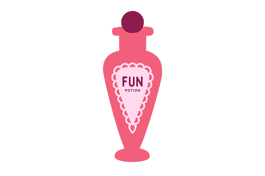 Download Free Funky Fun Potion Bottle Graphic By Dana Du Design Creative Fabrica for Cricut Explore, Silhouette and other cutting machines.