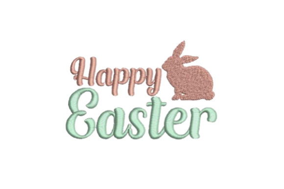 Happy Easter Bunny Easter Embroidery Design By Embroidery Designs - Image 1