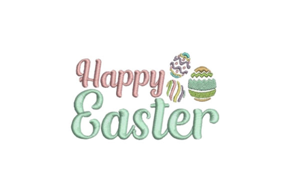Happy Easter Eggs Easter Embroidery Design By Embroidery Designs