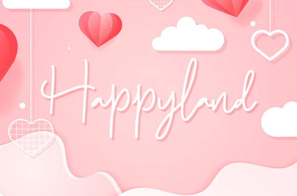 Print on Demand: Happyland Display Schriftarten von agniardii